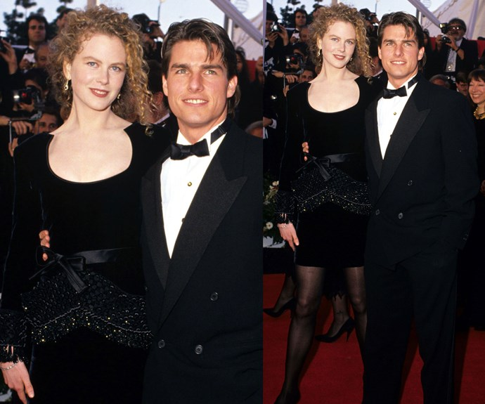 Nicole and then-husband Tom Cruise owned the 1991 Oscars red carpet. Nic wore a Valentino velvet mini dress, with semi-opaque stockings and let her curls do their thing.