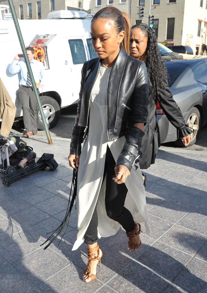 Chris Brown's ex-girlfriend Karrueche Tran says he assaulted her.