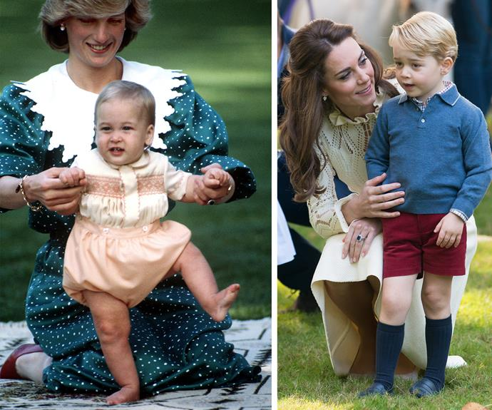 We see so many of the same traits in the way William and wife Kate are raising their kids.