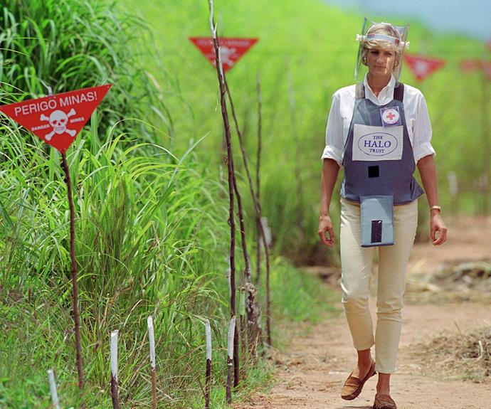 Diana wowed the world when she braved the landmines in Angola back in 1997.