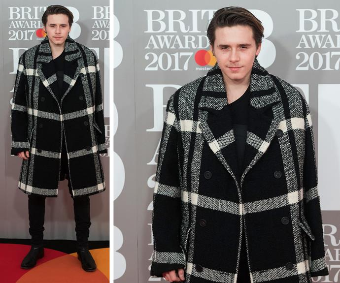 He may be 17 but with Victoria and David Beckham behind his lineage, young Brooklyn has a coat's load of swagger.
