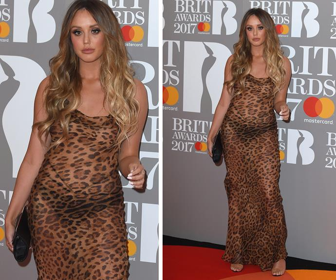 Charlotte Crosby goes primal at the Brits.