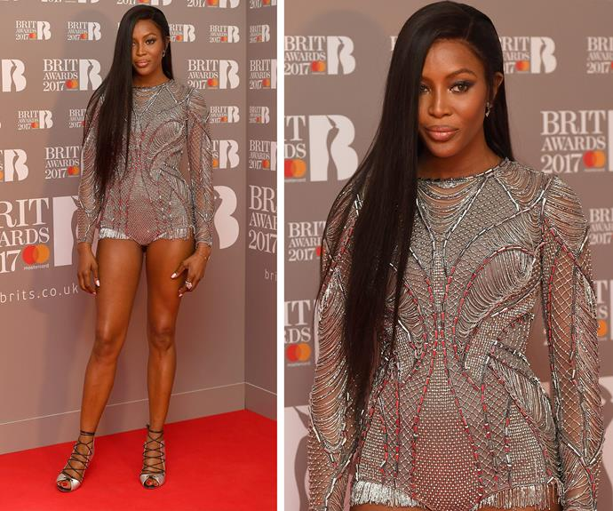 Some models are fine, and then there are those who are super... And then there's Miss Naomi Campbell. Look at those PINS!