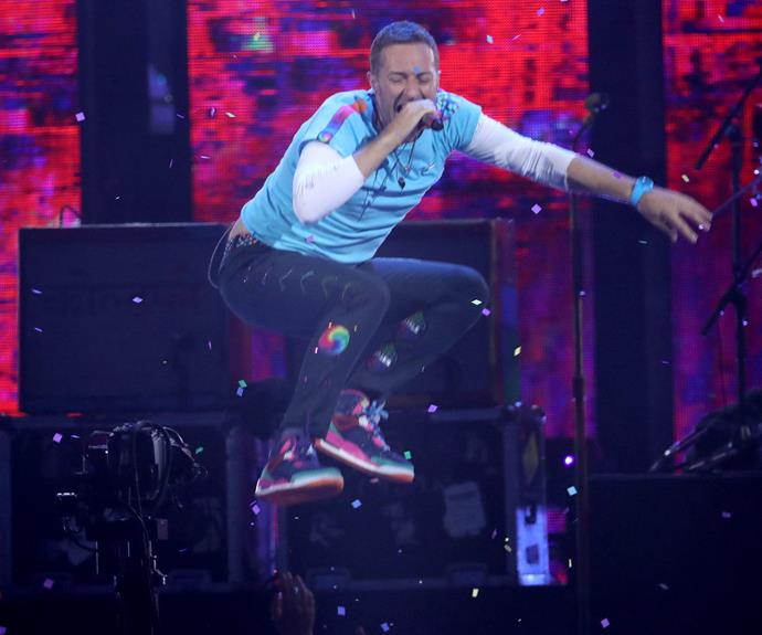 It's not a Brit Awards without some Chris Martin jumping up and down.