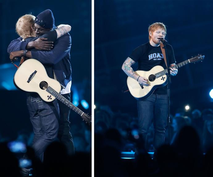 Ed Sheeran debuts his new hit with British rapper Stormzy.
