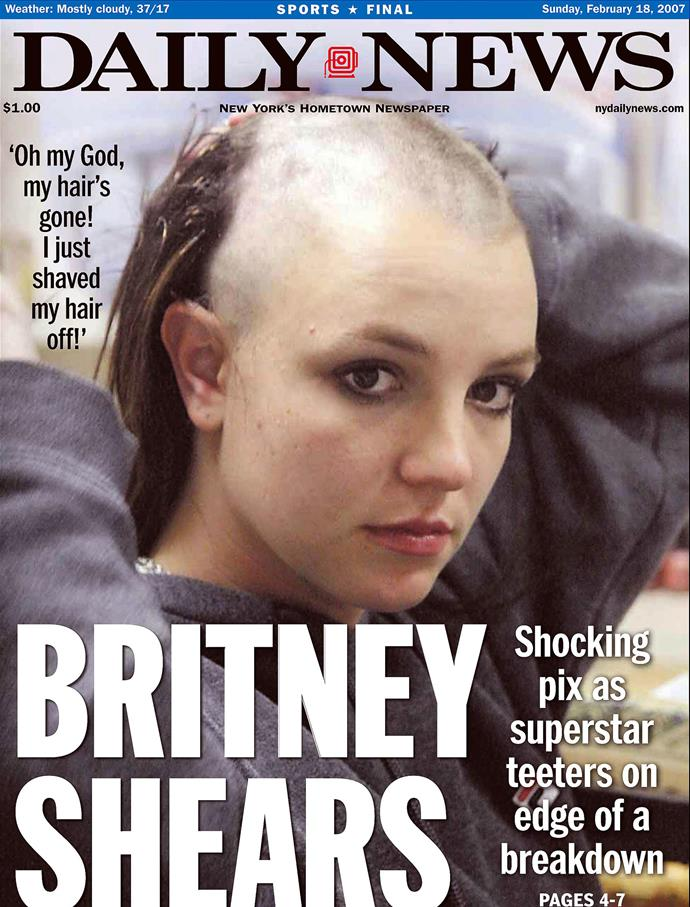Britney's breakdown was posted on the cover of newspapers around the world...