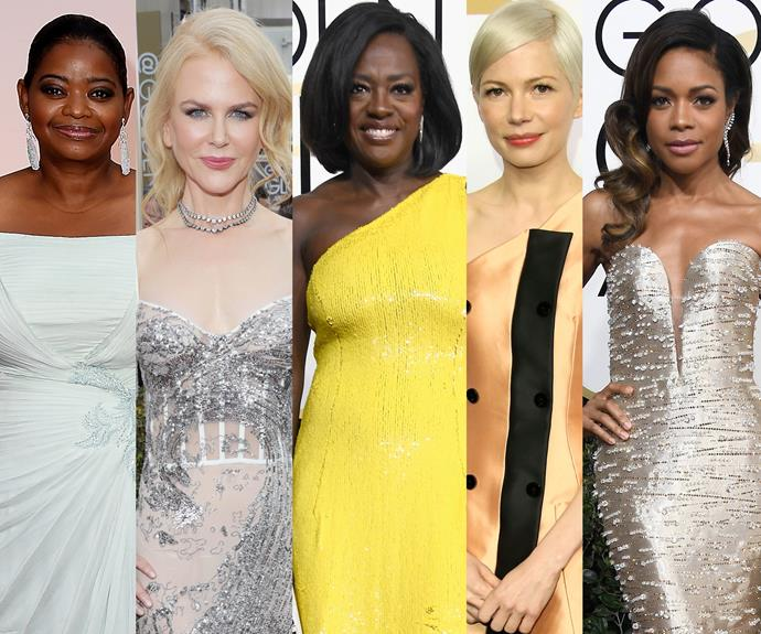 A big round of applause of the Academy's Best Supporting Actress... Viola Davis!
