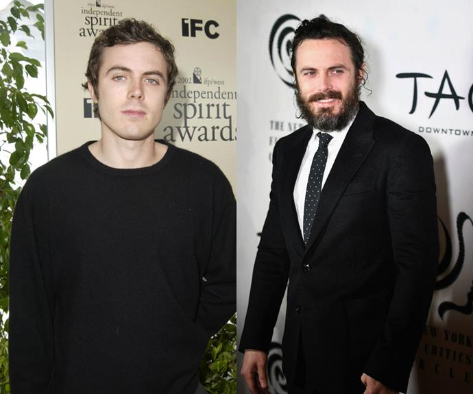 Jumpers on the red carpet are so 2002! Only suits will do now that Casey Affleck's a leading man and a Best Actor nominee.