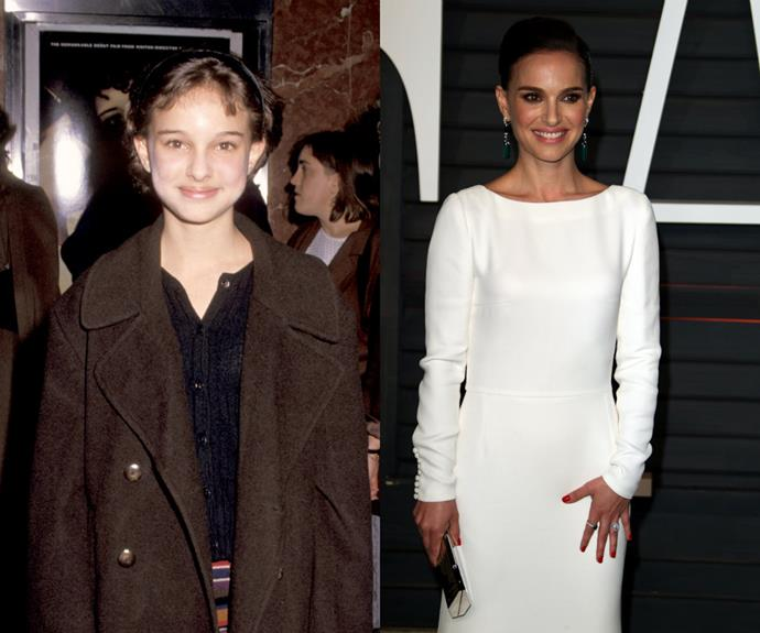 These days, Natalie Portman is swamped with movie offers. But back in 1994, the only thing swamping her was that oversized coat.
