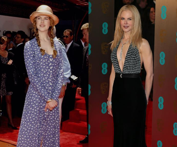 Bless Nicole Kidman for wearing a sun hat to an event in 1993. Well, her future was that bright so she needed it.