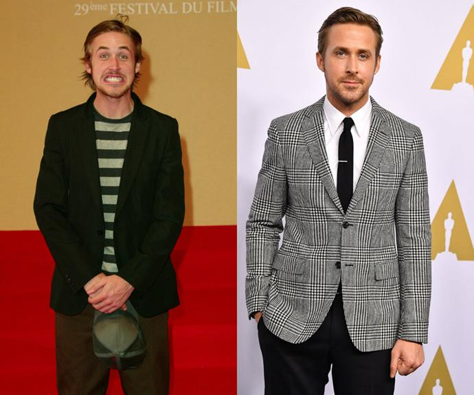 Photocalls in 2003 used to look like this for Ryan Gosling. He's since gone all La La Land  on us and we like it.