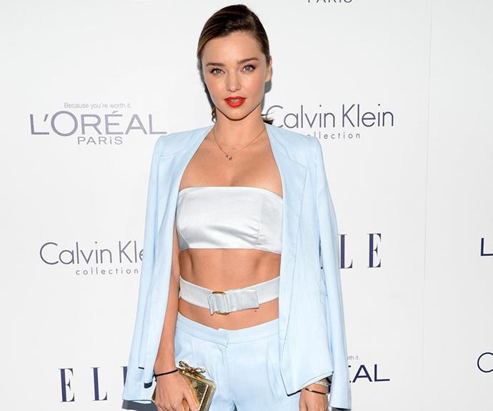 """The Aussie model's weight-loss hack is far less to do with the kitchen, and a *lot* more to do with the bedroom. """"The more sex I have, the more defined my arms and stomach get,"""" she told [*GQ UK*](http://www.gq-magazine.co.uk/article/miranda-kerr-gq-cover-photos