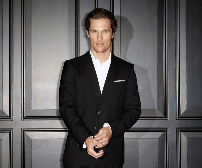 Forgive us for taking this one with a grain of salt, but legend has it that the oh-so-handsome Matthew McConaughey carries a toothbrush in his pockets to restaurants, all so he can clean his teeth the very moment a meal concludes. Why? Nutritionists say the minty fresh feeling helps signify fullness to the brain.