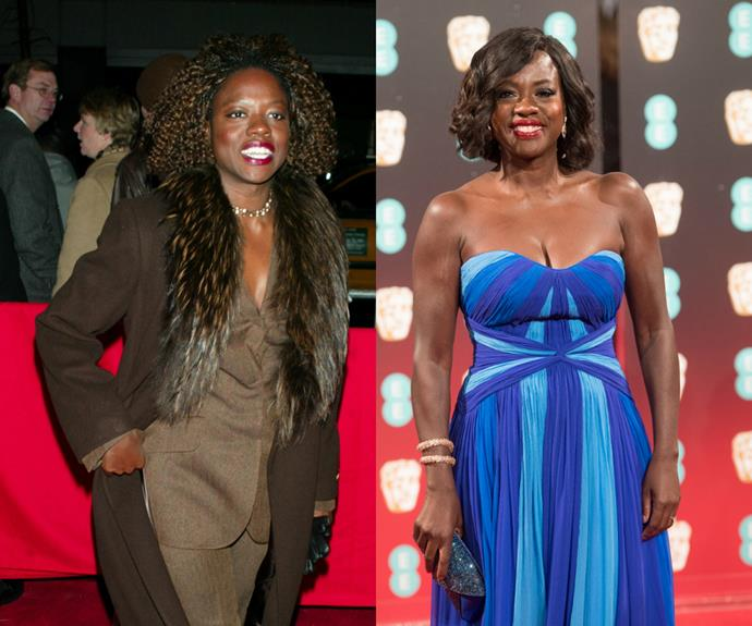 Thanks heavens Viola Davis realised that coats with the fur belong in 2002.