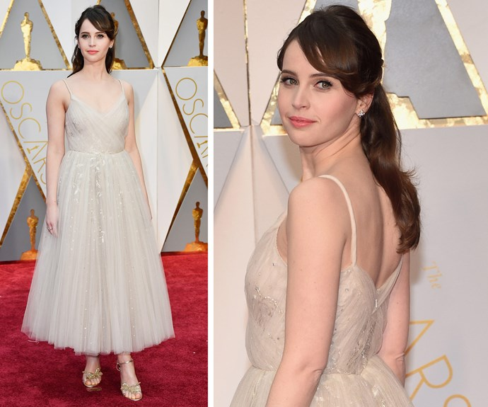 2015 Best Actress nominee Felicity Jones has arrived!
