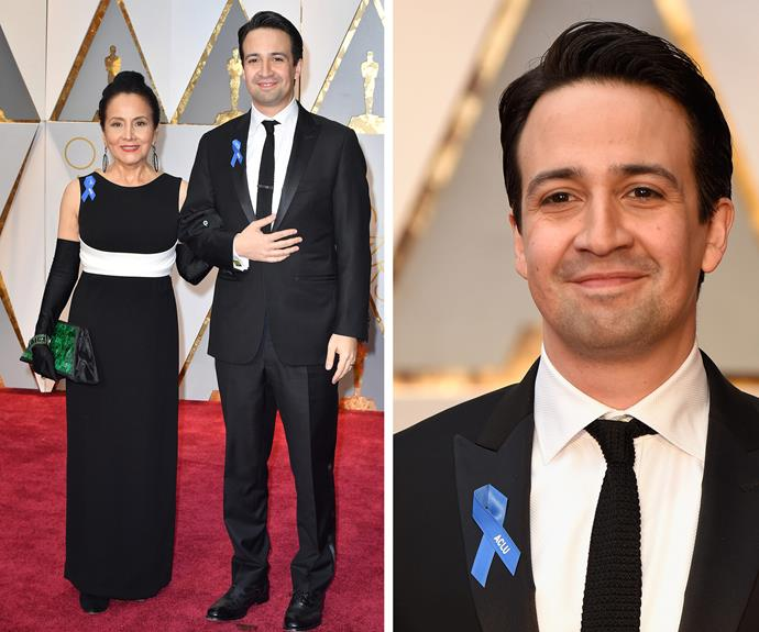 Lin-Manuel Miranda was joined by his mother his mum, Dr. Luz Towns-Miranda.