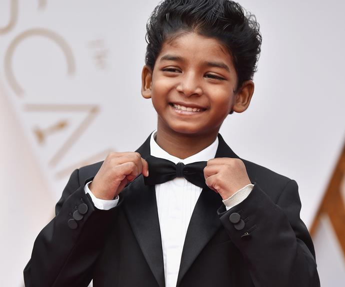 The cuteness is next level! *Lion* star Sunny Pawar touches up his bow-tie and the world collectively dies.