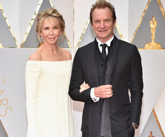 Everlasting love! Sting cuddles up to his wife Trudie Styler.