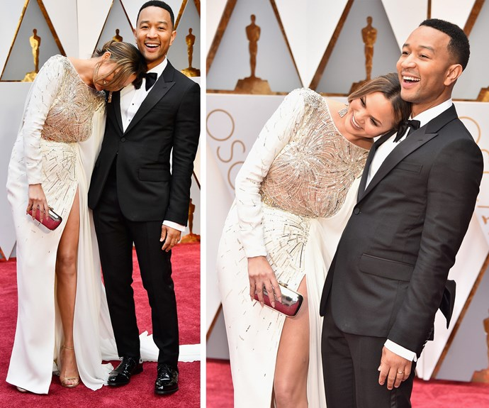 Hollywood's favourite A-list couple John Legend and Chrissy Teigen are too cute for words.