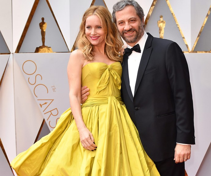 How adorable are Leslie Mann and Judd Apatow?
