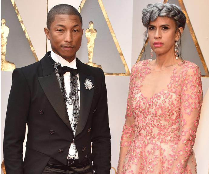 Pharrell and wife Helen Lasichanh enjoy a date night out.