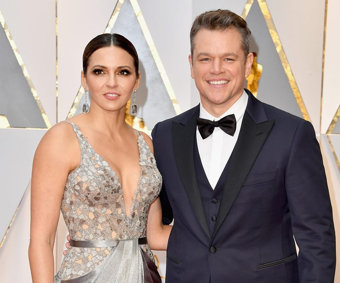 Matt Damon and his wife Luciana Barroso.
