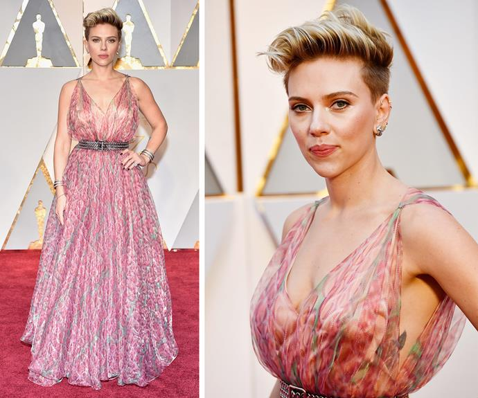 Scarlett Johansson stepped out for the first time since news of her divorce broke.