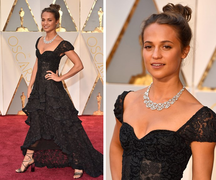 Alicia Vikander is the belle of the ball!