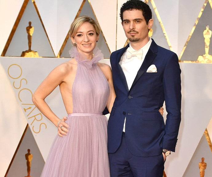 La La Land guru and director Damien Chazelle with Olivia Hamilton.