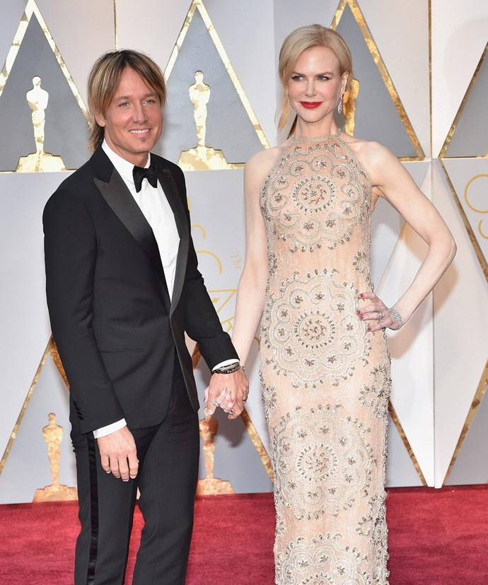 Her leading man, Keith Urban, was right by her side.