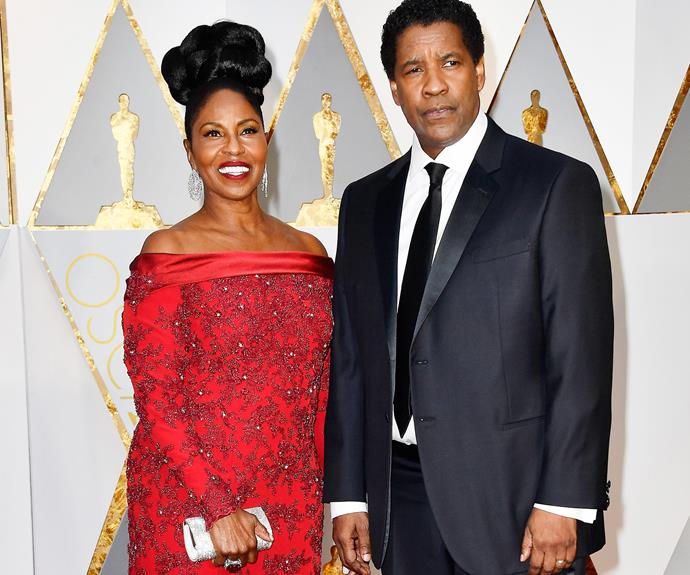 Denzel Washington with with Pauletta.