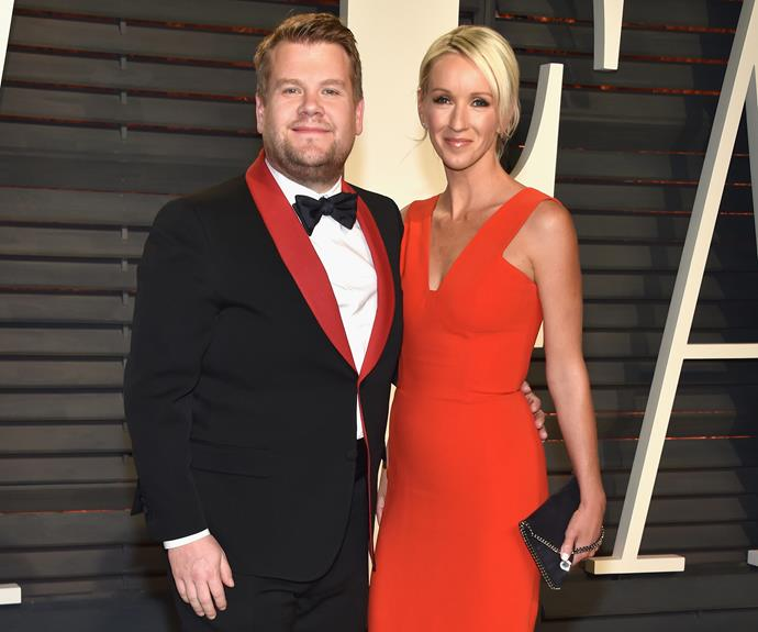 Funny man James Corden with his Mrs, Julia.