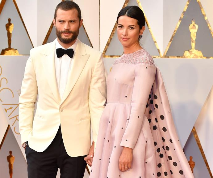 50 shades of yes! Looking incredible Jamie Dornan and wife Amelia.