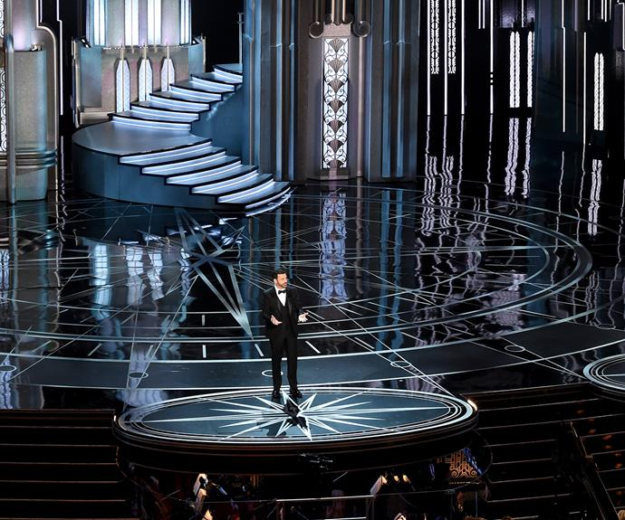 """I want to say thank you to President Trump, remember last year when it seemed like the Oscars were racist,"" Jimmy quipped."