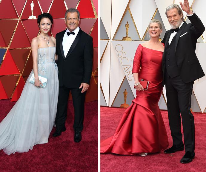 Nominees Jeff Bridges and Mel Gibson bring their leading ladies Susan Geston and Rosalind Ross