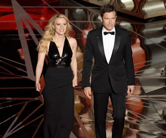 Kate McKinnon and Jason Bateman turn heads as they take to the stage.