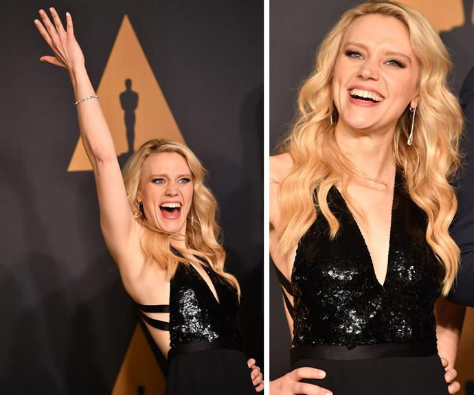 Kate McKinnon *really* loves the Oscars.