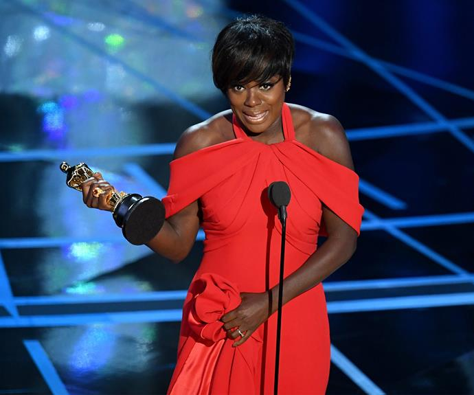 Viola Davis picks up the Best Supporting Actress award for *Fences* and her speech brought down the house in tears. **Watch her powerful speech in the next slide!**