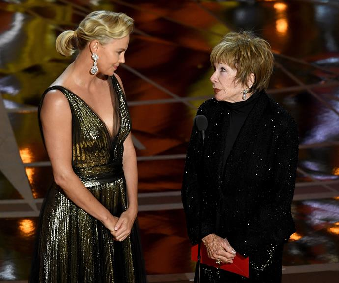 Charlize Theron and Shirley Maclaine.