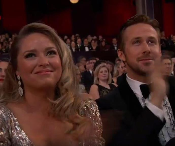 Best Actor nominee Ryan Gosling was joined by his older sister, Mandi Gosling.