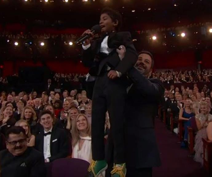 Sunny Pawar and Jimmy Kimmel recreating the *Lion King* might just be the best moment of the whole night. **Watch the adorable moment in the next slide!**