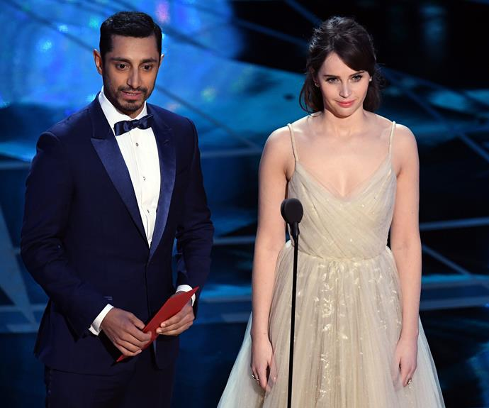 Riz Ahmed steps out with Felicity Jones.
