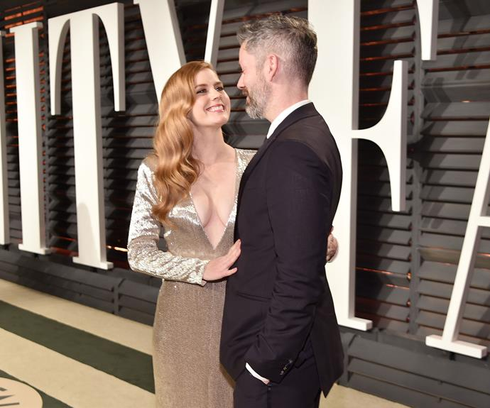 Amy Adams has the look of love with fiancé Darren Le Gallo.