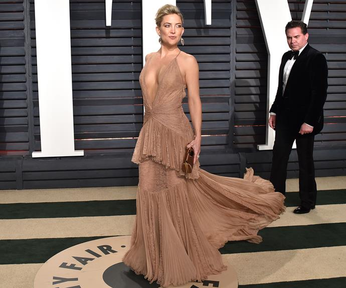 Kate Hudson absolutely stuns in neutral. There's nothing beige about this look...