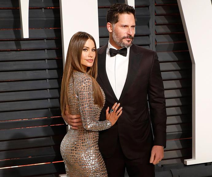 Sofía Vergara poses with husband Joe Manganiello. We can't decide who looks hotter!