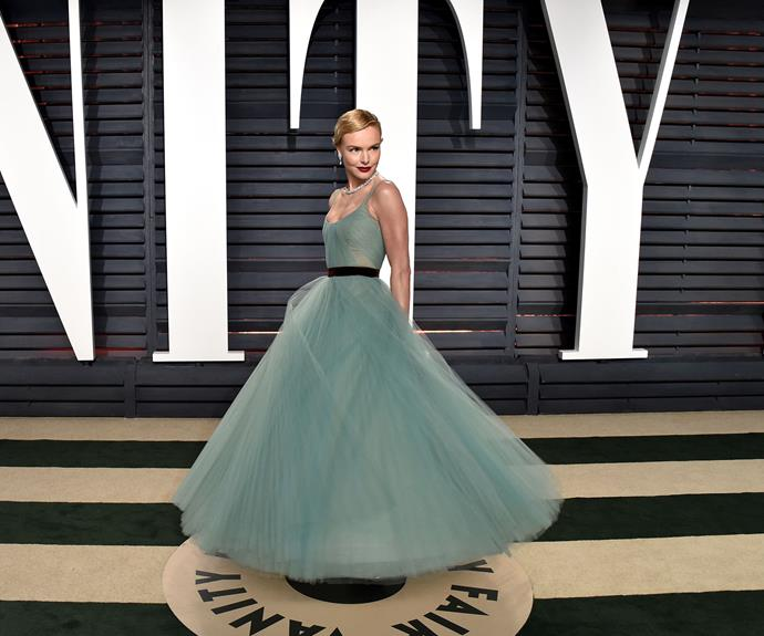 Kate Bosworth's full, emerald tulle gown is a classic.