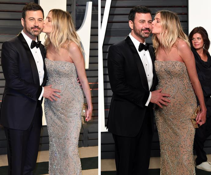 He survived! Oscar host Jimmy Kimmel and his pregnant wife Molly kick their heels up after a *very* eventful night.