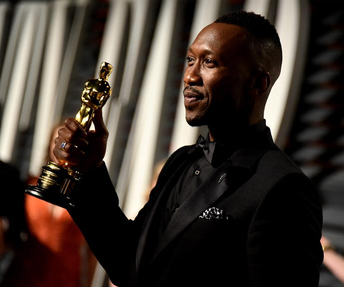 Best Supporting Actor Mahershala Ali soaks up the electric atmosphere.