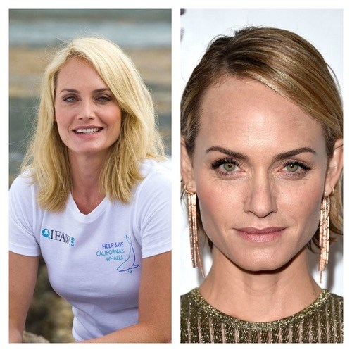 Supermodel Amber Valletta had platinum shoulder-length hair in 2012, but now has a bold chin-length crop which really shows off her gorgeous green eyes.