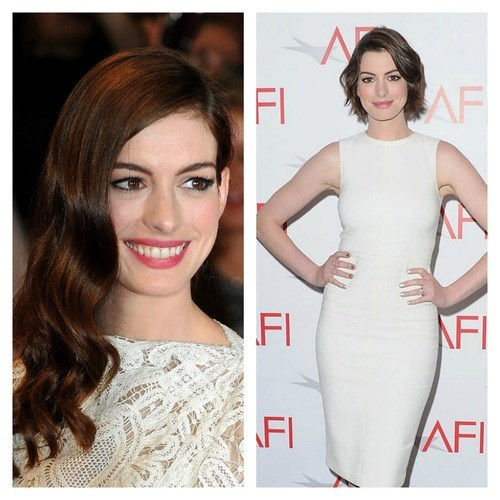 In 2011, Anne Hathaway had long hair but we love her with a shorter cut even more (if that's possible).